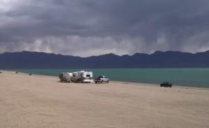 Rain Squalls as seen at Pelican Beach